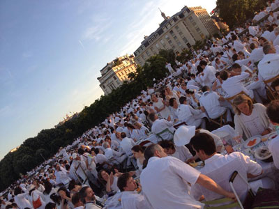 soirée blanche à Paris