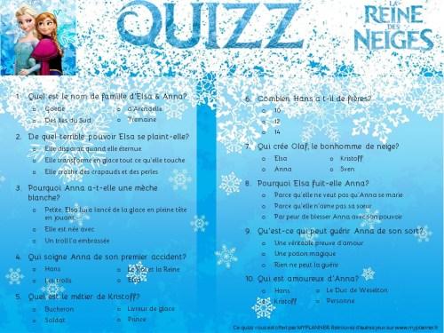 Le quizz 100 reine des neiges myplanner le blog - Jeux gratuits de reine des neige ...