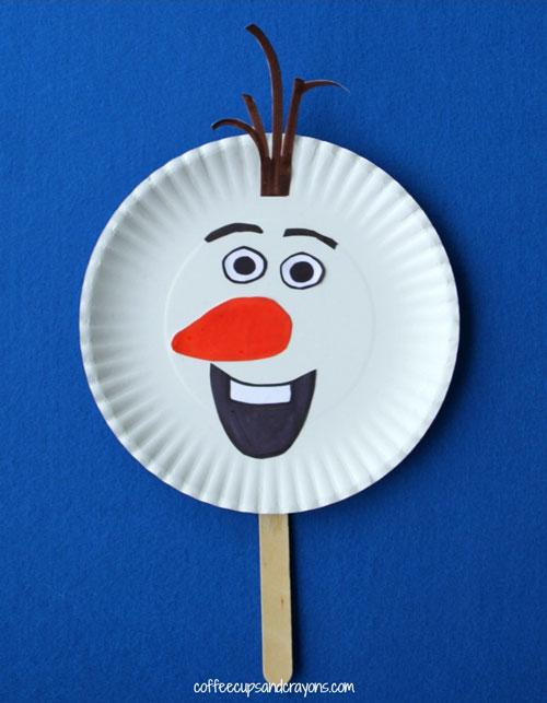 marionette d'Olaf de la reine des neiges à fabriquer