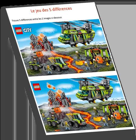 Anniversaire lego: Jeu téléchargeable et imprimable des 5 différences