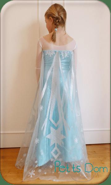 Tutoriel déguisement robe et traine d'Elsa
