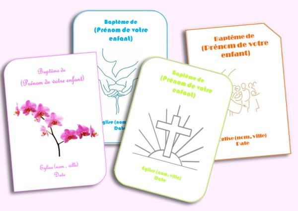 4 modèles de livrets de baptême à télécharger
