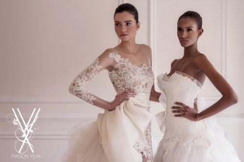 Deux robes de mariage originales aux décolletés à effet transparence