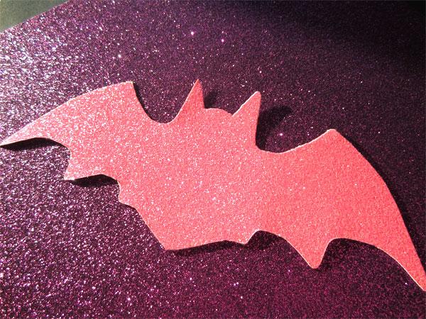 Chauves souris à paillettes rose clair pour décorer un anniversaire Chica Vampiro