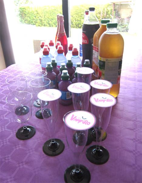 Goûter d'anniversaire Chica Vampiro drink bar