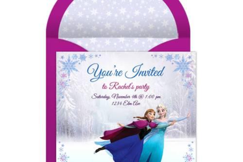 Cartes d'invitation anniversaire reine des neiges frozen à envoyer gratuitement par e-mail