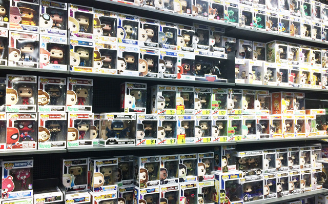 Mur de figurines Pop de Funko