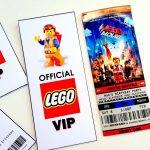Cartons d'invitation pour un anniversaire Lego