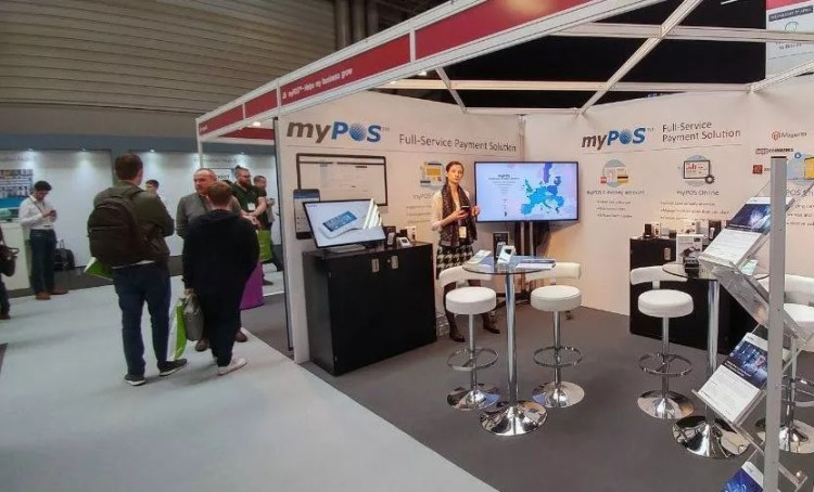 myPOS booth at IRX Hall 9, J8