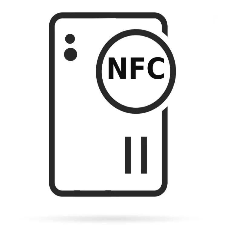 Uma imagem vetorial de um telefone com NFC