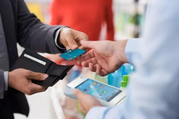 payment wirh card machine