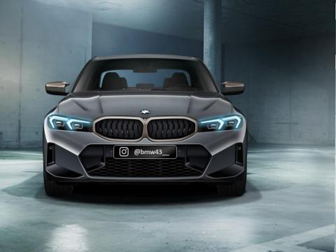 2022 BMW 3 Series Facelift rendered based on the leaked image
