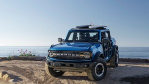 2021 Ford Bronco Riptide concept is reading the surf forecast