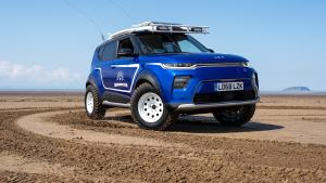 Kia Soul EV surf car was saved from the crusher for endless summers