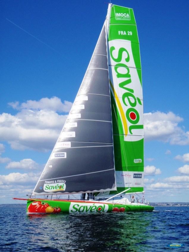 Sam Davies - Savéol Boat - Sponsored by MaxSea & Furuno 2