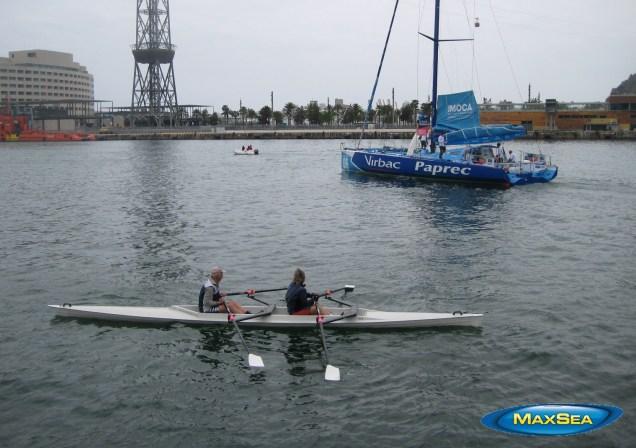Europa Warm'Up - Virbac-Paprec Boat leaving Barcelona's Port