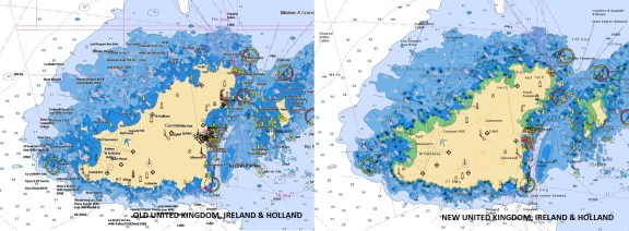 UK, Ireland & Holland Navionics Vector Charts Update