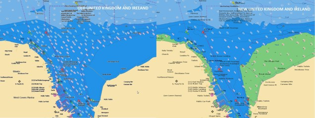 United Kingdom and Ireland Navionics Electronic chart