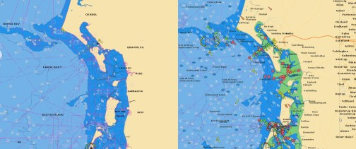 Denmark, Germany, Skagerrak, Sweden West Navionics vector chart update