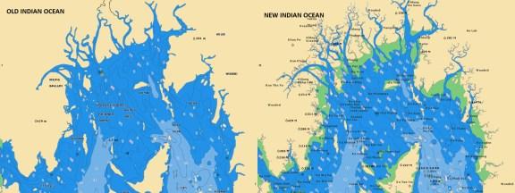 Old/New Indian Ocean - Navionics vector chart