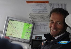 Michel Desjoyaux using MaxSea marine navigation software
