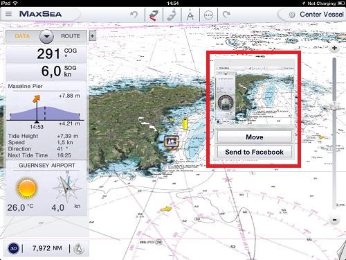 MaxSea App Camera integration