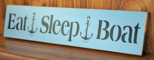 eat sleep boat