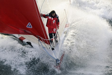 Andrea Mura - Route du Rhum - Saint Mal˜ Ottobre 2010 Photocredit: AFP