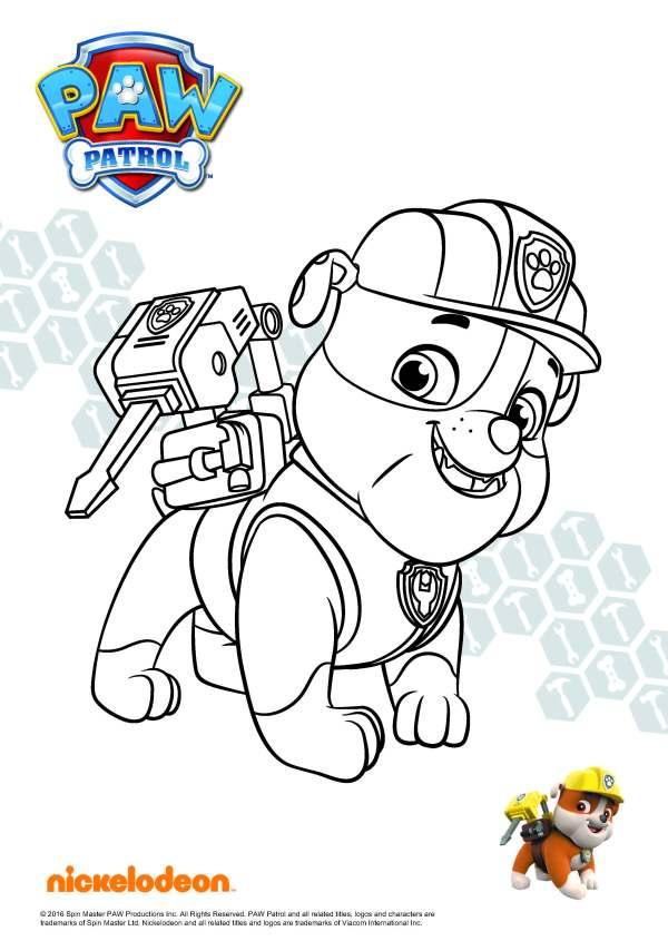 paw patrol ausmalbilder # 24
