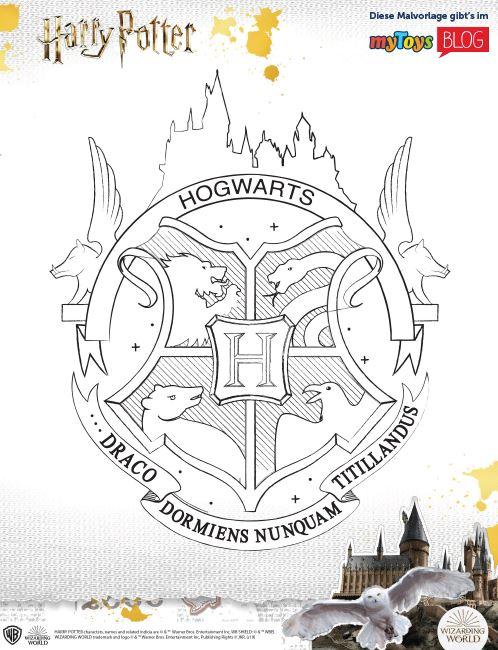 hogwarts gratis harry potter ausmalbilder