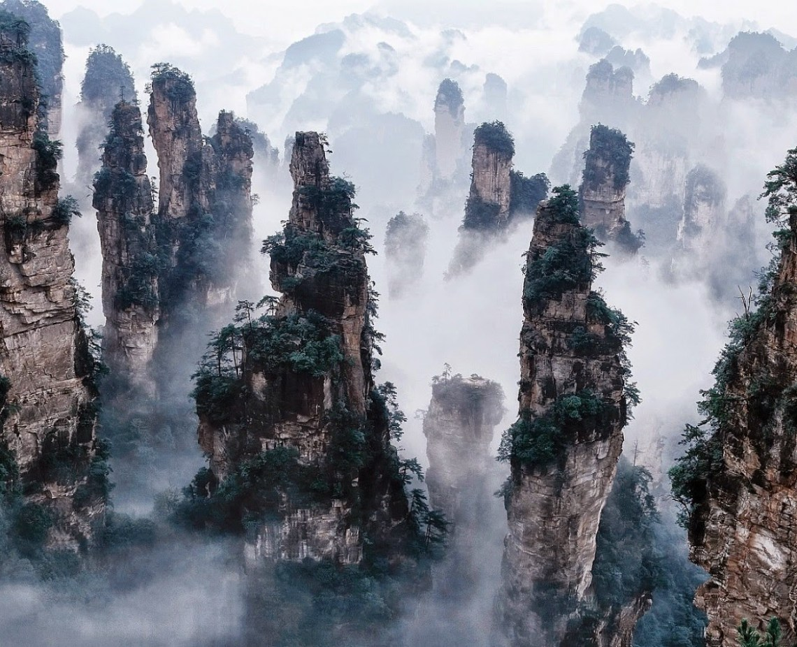 Image result for The Tianzi mountains, China