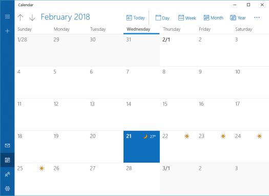 Outlook Calendar app