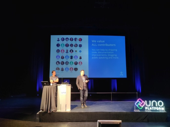 Francois Tanguay highlighting the Uno Platform developer community