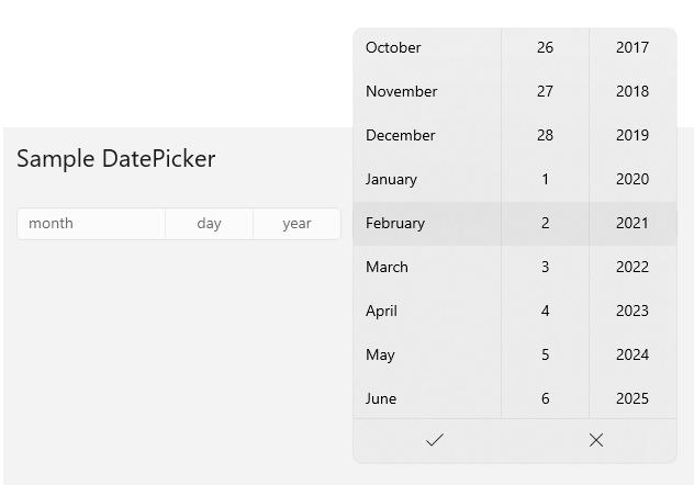 Beautiful new DatePicker