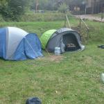 Die einzigen Zelte auf dem Zeltplatz