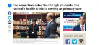 Rep. McGovern at Family Health Center of Worcester's School Based Health Center