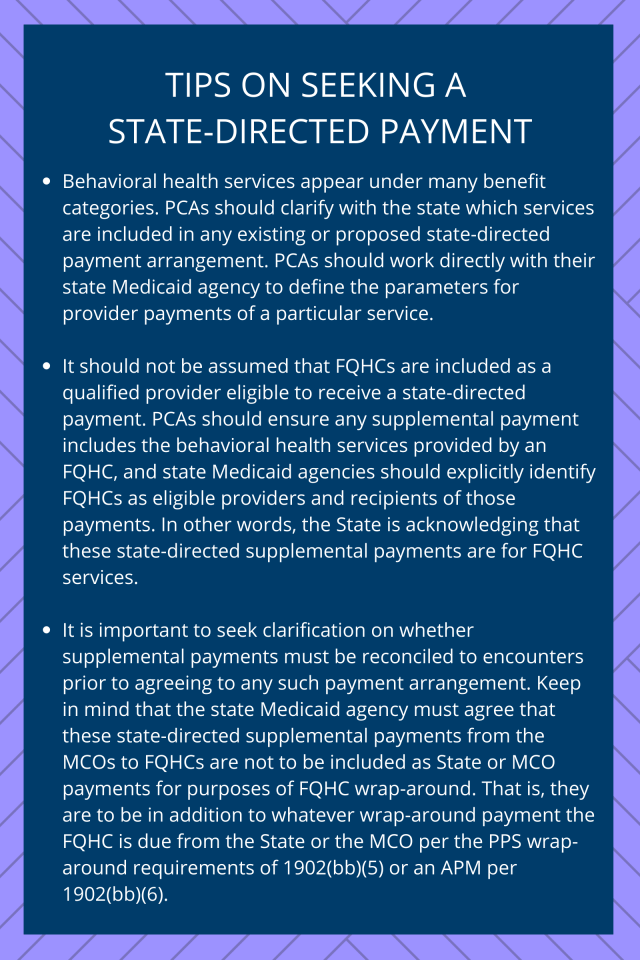 Tips for Seeking a State-Directed Payment