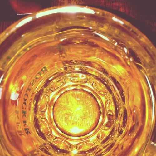 Zu tief ins Bierglas geschaut.