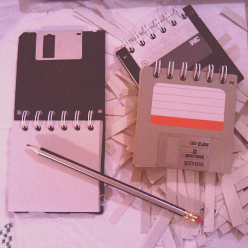Disketten Notizbuch