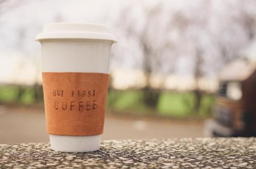 nähmarie.de - DIY Leather Sleeve For Coffee-To-Go Mug // Ledermanschette für Coffee-to-go Becher