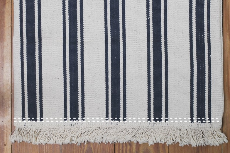DIY Picnic Bag Made from Fringed Rug // Picknicktasche aus ...