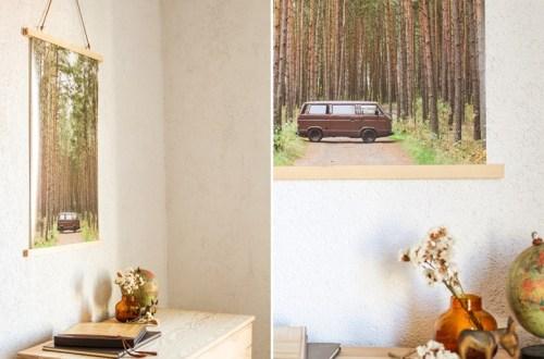 DIY Magnetische Posterleisten aus Holz via naehmarie.de