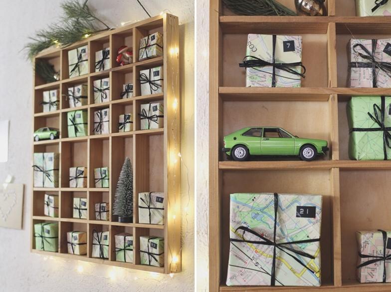 DIY Adventskalender im Setzkasten für Weltenbummler // Advent Calendar for Globetrotter