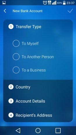 Options de création d'un tiers