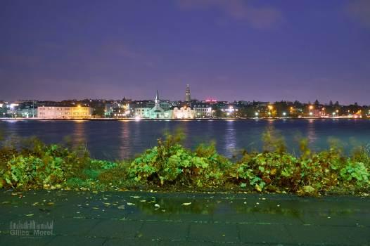 Coeur de Reykjavik à la nuit tombée