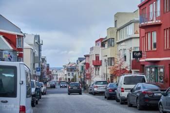 La rue Frakkastigur dans Reykjavik