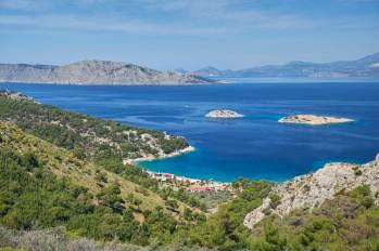 Vue de la côte Grecque depuis Hydra