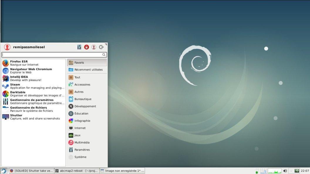 XFCE sous Debian 9