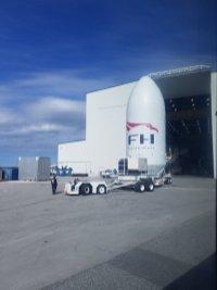 Coiffe Falcon Heavy arrivée