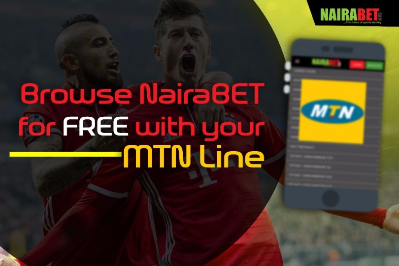 Browse NairaBET for FREE with MTN Line